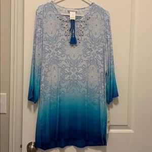 Swimsuit coverup NWT blue and turquoise ombre